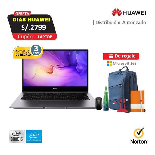 Imagen 1 de 8 de Laptop Huawei Matebook D14 I5 8gb Ram, 512gb Ssd + Regalos