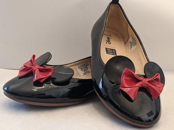 Zapatos De Vestir Nena Disney Minnie Charlol Negro Talle 30