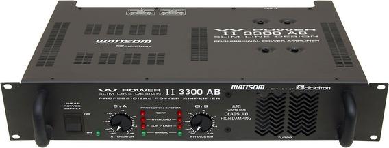 Potência Wattsom Wpower Ii 3300 Ab 4ohms