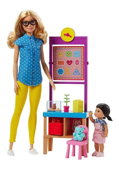 Boneca Barbie Menina Profissão Professora Infantil Original