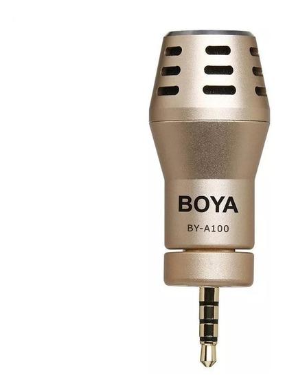 Microfone Boya By-a100 Para Smartphones - Somos Revenda Autorizada