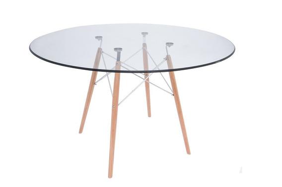 Mesa Eames De Cristal 120cm Templado - Elegante Y Moderna!