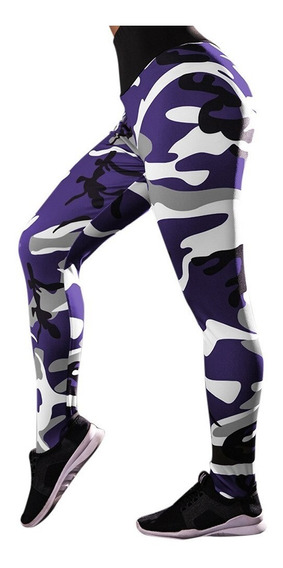 Leggins Camuflaje Mujer Efecto Push Up Scrunch Fitness