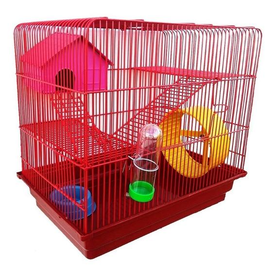 Gaiola Hamster Luxo 3 Andares Completa
