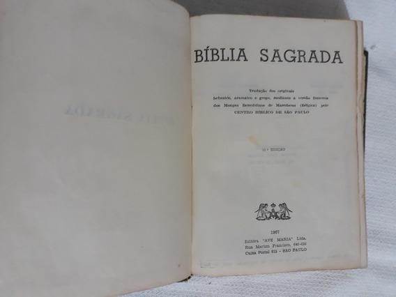 Biblia Sagrada,centro Biblico De São Paulo1967no Estadoleia