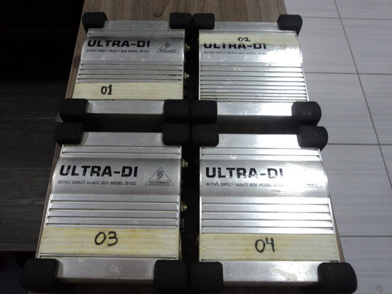 Lote 4 Unid. Ultra Di 100 - Direct Box Behringer