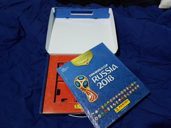 Box Maleta + Álbum Capa Dura Copa Do Mundo Rússia 2018