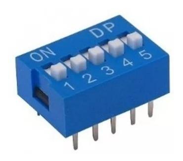 20pçs Chave Dip Switch 5 Vias Azul 180g Kf1001 (7104)