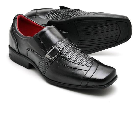 Sapato Social Couro Formatura Executivo Sola Leve 37 Ao 48