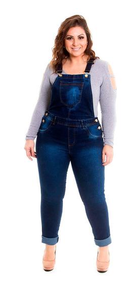 Jardineira Macacão Jeans Plus Size G1 Ao G4 Frete Grátis