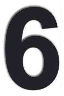 Número De Casa Flotante Moderno 6 Pulgadas Negro Acero I