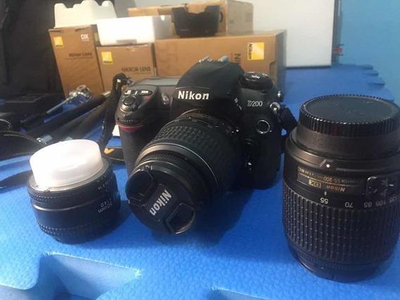Nikon D200 Com Tudo, Apenas 1800 Klicks Praticamente Novo !!