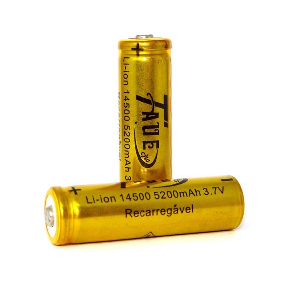Kit De Baterias Recarregáveis Li-ion 14500 - 2 Unidades