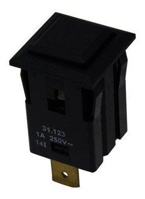 Chave 31123 Interruptor Botão 1a 2 Posições Preto Pushbutton