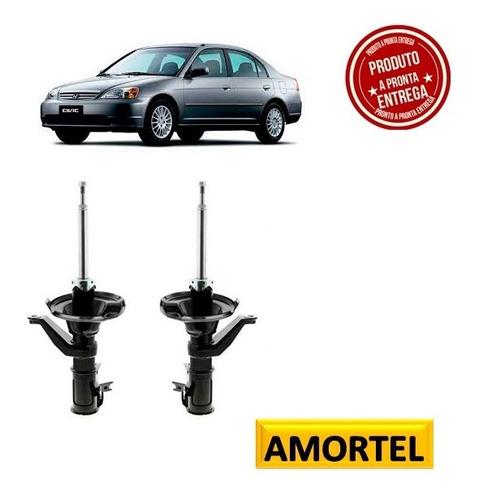 Par De Amortecedor Remanufaturado Honda Civic Diant 01/ 02