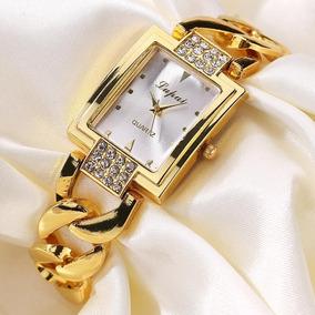 Relógio Feminino Dourado Quartz Modelo 2019