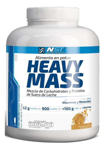 Proteina Nst Heavy Mass 6 Lb (2.724 Kg) Mantequilla Mani
