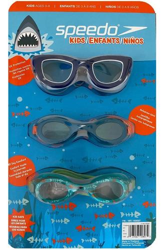 Imagen 1 de 5 de Gafas De Natacion Speedo Niños 3 - 8 Años, Set X 3