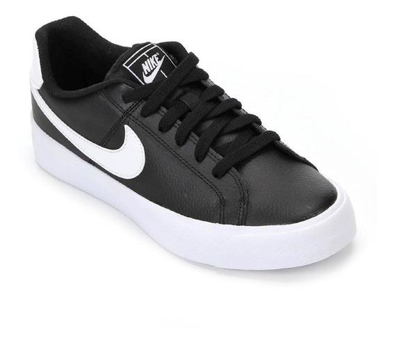 Tênis Casual Nike Feminino Court Royale Ao2810 Preto/branco