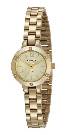 Relógio Feminino Dourado Seculus Classic 23615lpsvds1