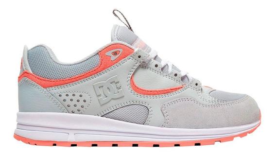 Tenis Mujer Calzado Kalis Lite Adjs100081 Gris Blc Dc Shoes