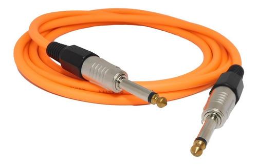 Imagen 1 de 2 de Cable Plug Plug 2mts Instrumentos Musicales Fluor Naraj Hamc