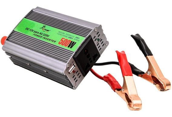 Inversor Transformador Conversor 500w Veicular 12v 220v