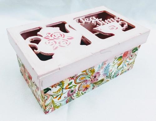 Cajas Madera Té Decoradas Variedad Diseños Y Tamaño Consulte