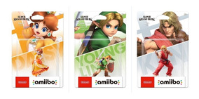 Amiibo Young Link Ken Daisy Ultimate Smash Bros Super Switch