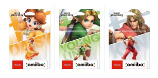 Amiibo Young Link Ken Daisy Ultimate Smash Bros Super Switch