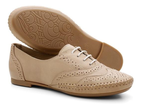 Sapato Social Feminino Oxford Em Couro Legítimo 015360