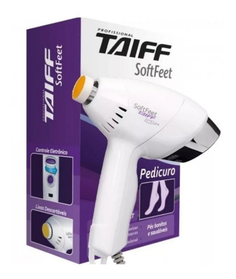 Pedicuro Softfeet Profissional Lixa Elétrica Taiff - Bivolt