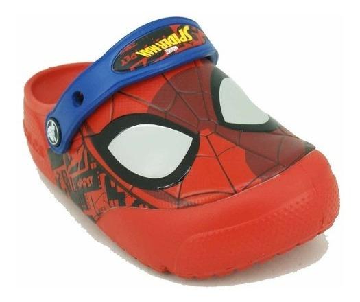 Crocs Funlab Spider-man Con Luz Rojo Niño Deporfan