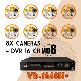 Dvr Camera Segurança 16 Canais O Melhor Kit C/ 8 Câmera