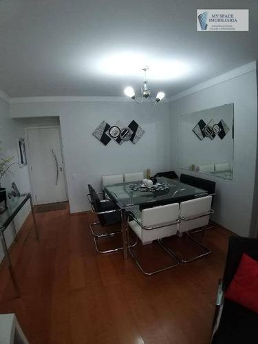 Apartamento Com 3 Dormitórios À Venda, 88 M² Por R$ 560.000,00 - Vila Parque Jabaquara - São Paulo/sp - Ap1703