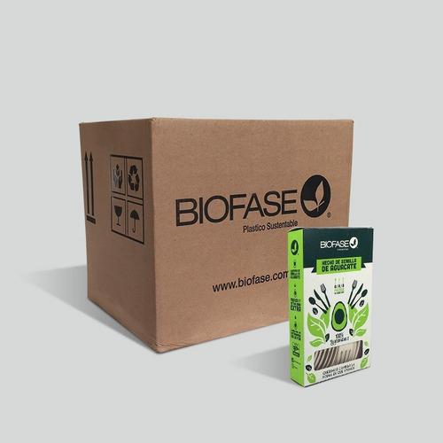 Cubiertos Mix Biofase® Biodegradable A  Base De  Aguacate