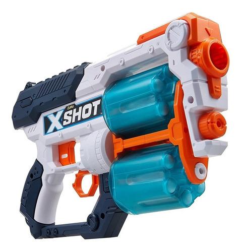 Imagen 1 de 8 de Pistola Doble Xcess Lanza Dardos Y Discos A 24m Arma X-shot