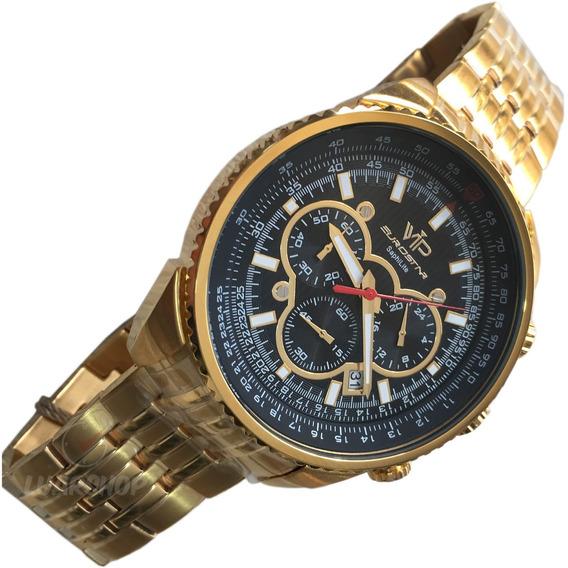 Relogio Masculino Vip Eurostar Cronografo Luxo Original