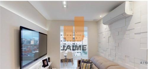 Apartamento Padrão, 50 Metros, Prédio De 2014, Bem Localizado, Próximo A Comércios E Bancos.  - Ja15629