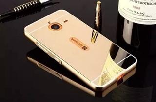 Capa Bumper Alumínio Espelhada Celular Nokia Lumia 640xl 5.7