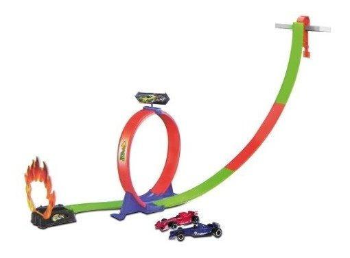 Pista De Carrera Con 2 Autos Loop Gira 360 Y Rampa Mortal