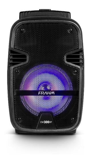 Caixa De Som Frahm 300w Cm300 Com Bluetooth Usb Bateria