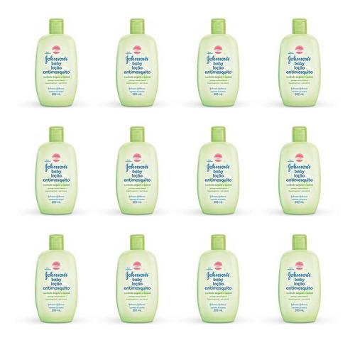 Johnsons Anti Mosquito Loção Hidratante 200ml (kit C/12)