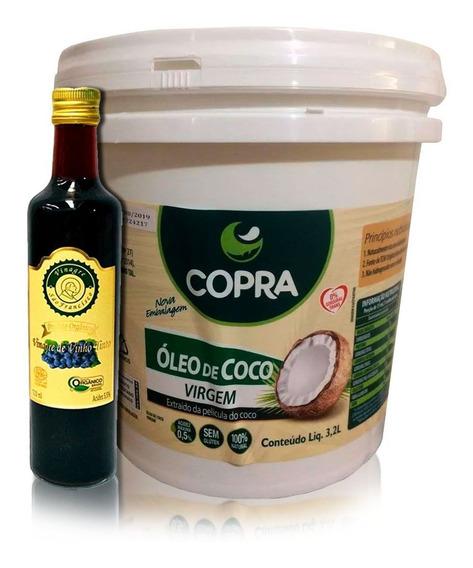 Oferta - Vinagre Orgânico 500ml + Balde Óleo De Coco Virgem