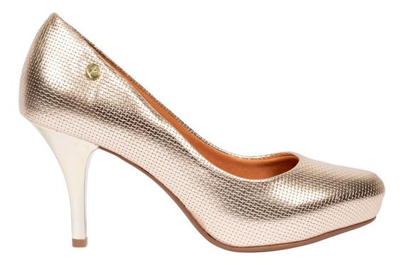 Sapato Vizzano Dourado Feminino 38676