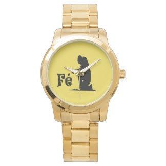 Relógio Fé Grande Dourada Unisex Importado Dos Eua