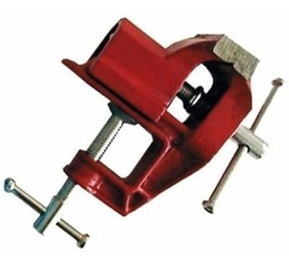Mini Torno De Bancada Base Fixa Mini Morsa 40mm