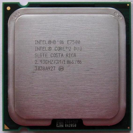 Processador Intel Core 2 Duo E7500 2.93ghz Lga 775 Usado