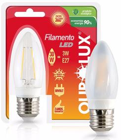 Lâmpada Led Filamento Vela 3w Fria Ou Quente - Ourolux