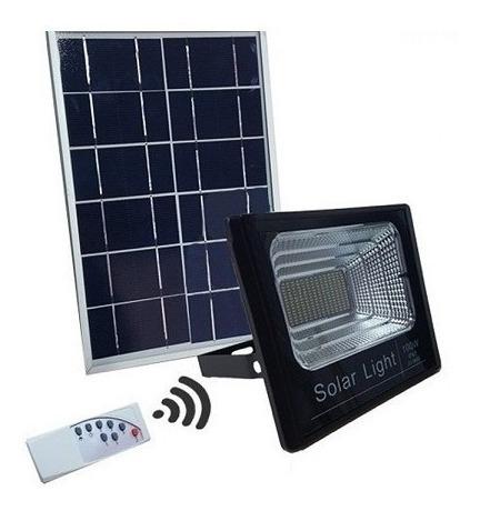 Foco 100w Led + Panel Solar + Control